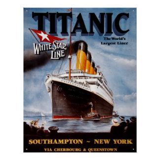 Vintage TITANIC POSTER