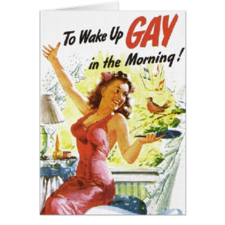 "Vintage ""To Wake Up Gay"" Card"