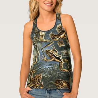 Vintage Toads and Frogs Batrachia by Ernst Haeckel Singlet