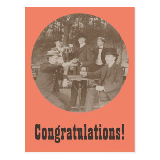 Vintage Toast Congratulations Party Men Postcard
