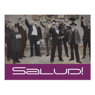 Vintage Toast Toasting Club Salud Health Postcards