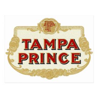 Vintage Tobbacco Cigars Tampa Prince LabelVintage Postcard