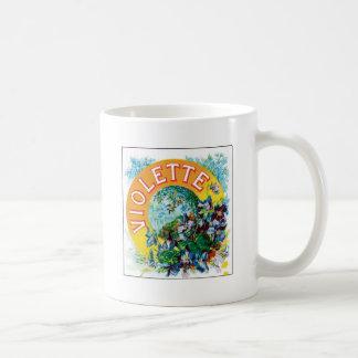 Vintage Toilet Water Perfume Label Art Coffee Mug