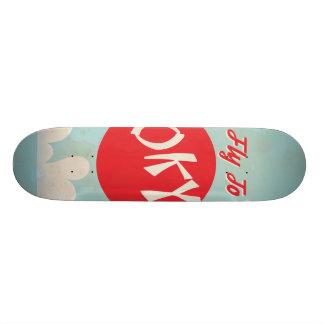Vintage Tokyo, Japan Travel Posters Custom Skateboard
