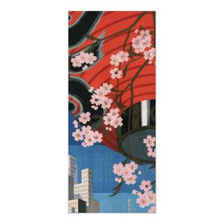 Vintage Tokyo travel 10 Cm X 24 Cm Invitation Card