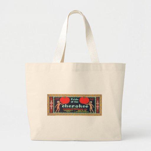 Vintage Tomato Label Tote Bags