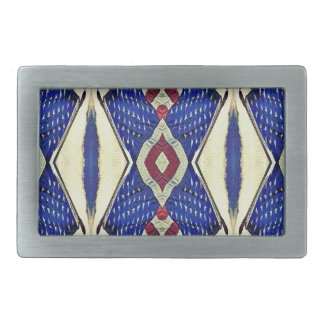 Vintage Toned Red White Blue Patriotic Pattern Belt Buckle