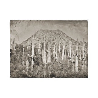 Vintage Tonto Mountains and Saguaro Door Mat