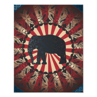 Vintage Too Circus Elephant Free Mandarin Print
