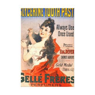 Vintage Toothpaste Ad 1889 Canvas Print
