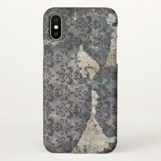 Vintage Torn and Aged Wallpaper iPhone X Case