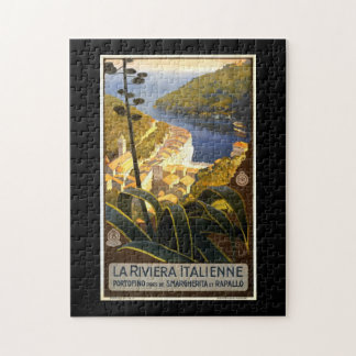 Vintage Tourism Travel Poster La Riviera Italienne Jigsaw Puzzle