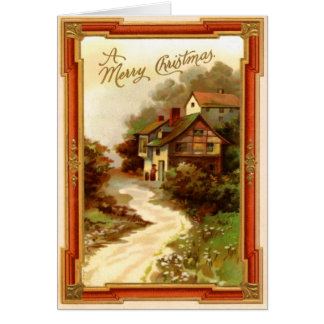 Vintage Town Christmas Card