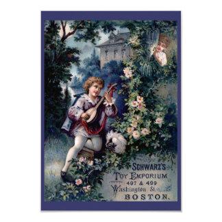 Vintage Toy Emporium Ad 9 Cm X 13 Cm Invitation Card
