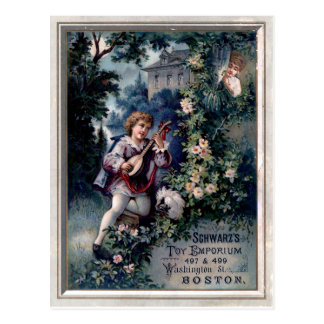 Vintage Toy Emporium Ad Postcard