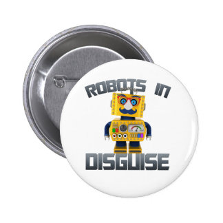 Vintage toy robot in disguise 6 cm round badge