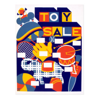 Vintage Toy Sale Artwork Postcard