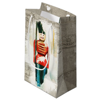 Vintage Toy Soldier Christmas Gift Bag