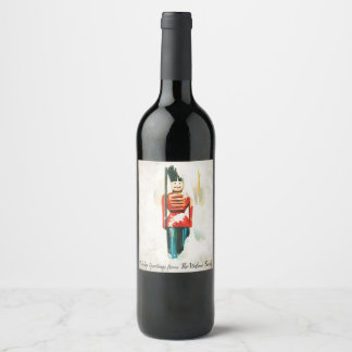 Vintage Toy Soldier Christmas Wine Label