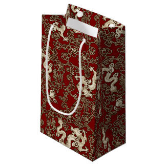 Vintage Traditional Japanese Paper Print Small Gift Bag