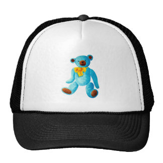 Vintage/Traditional Style Blue Painted Teddy Bear Cap