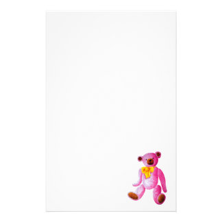 Vintage/Traditional Style Pink Teddy Bear Stationery Paper