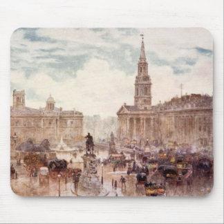 Vintage Trafalgar Square City London England Mouse Pad