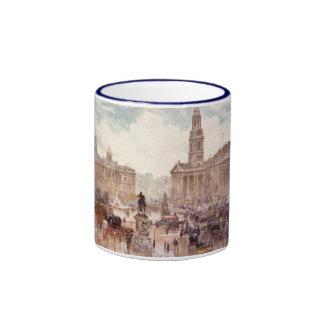 Vintage Trafalgar Square City London England Ringer Mug