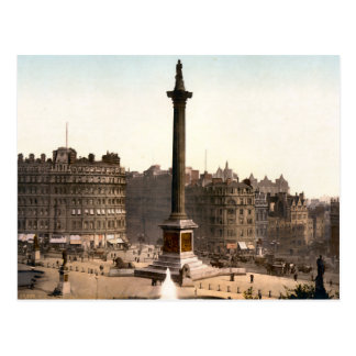 Vintage Trafalgar Square London England Postcard