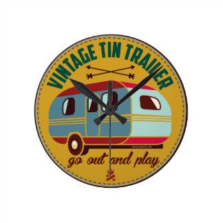 Vintage trailer / vintage camper mugs, gifts, etc! round clock