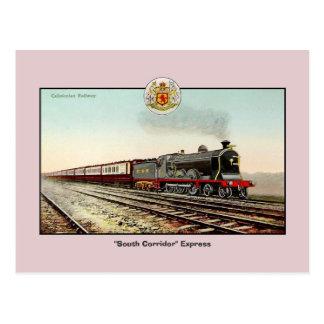 Vintage train Caledonian Railway Postcard