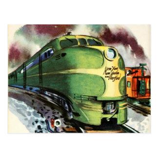 Vintage Train Postcard