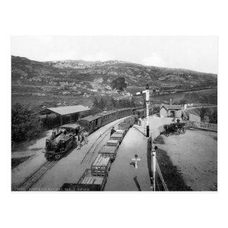 Vintage train & railway, 1895 Wales, U.K Postcard