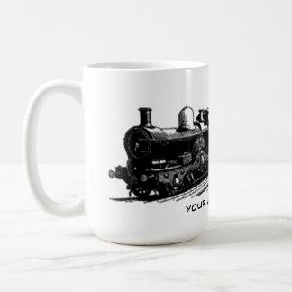 vintage train steam locomotive mug