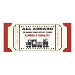 Vintage Train Ticket Birthday Party 10 Cm X 24 Cm Invitation Card