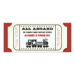 Vintage Train Ticket Birthday Party Invitation