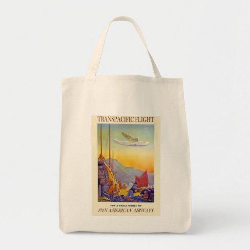 Vintage Transpacific Flight Bags