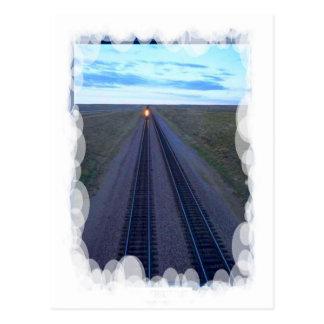 Vintage Transport - Long track ahead Postcard
