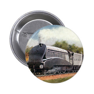 Vintage Transportation, Modern Silver Bullet Train 6 Cm Round Badge