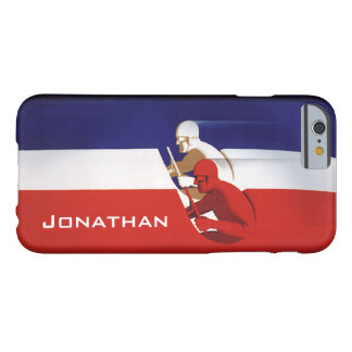 Vintage Transportation, Patriotic Racers Race Cars Barely There iPhone 6 Case