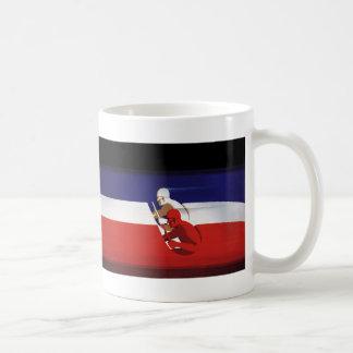 Vintage Transportation, Patriotic Racers Race Cars Coffee Mug