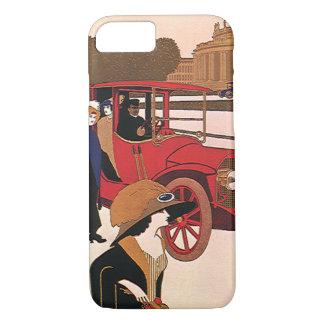 Vintage Transportation, Red Antique Automobile iPhone 7 Case