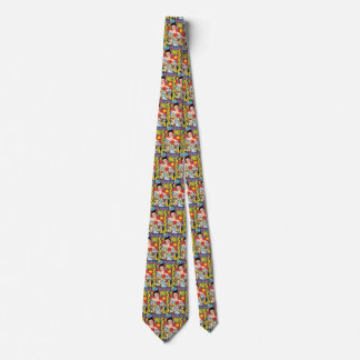 Vintage Travel 1937 Panama Carnival Party Woman Tie