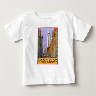 Vintage Travel 5th Avenue New York Baby T-Shirt