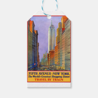 Vintage Travel 5th Avenue New York Gift Tags