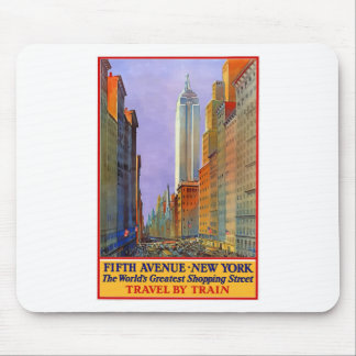 Vintage Travel 5th Avenue New York Mouse Pad