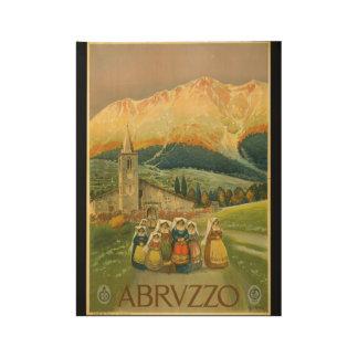 Vintage Travel Abruzzo Rome 1920s Wood Poster