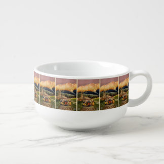 Vintage Travel Abrvzzo Italy soup mug