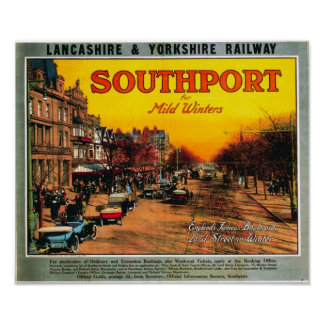 Vintage Travel Advert /Southport England 1900's Poster