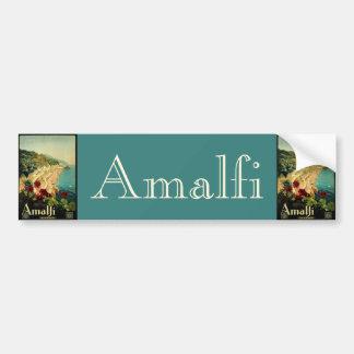 Vintage Travel, Amalfi Italian Coast Beach Bumper Sticker